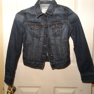 Old Navy Blue Demin Trucker Denim Jacket Sz XS